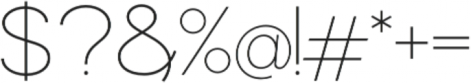 Commeria Sans Thin otf (100) Font OTHER CHARS
