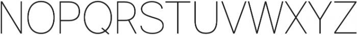 Commeria Sans Thin otf (100) Font UPPERCASE