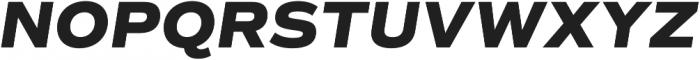 Commuters Sans ExtraBold Italic otf (700) Font UPPERCASE