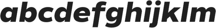 Commuters Sans ExtraBold Italic otf (700) Font LOWERCASE