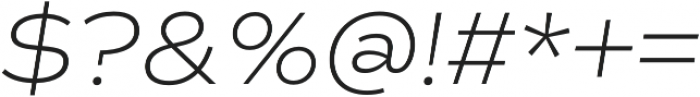 Commuters Sans ExtraLight Italic otf (200) Font OTHER CHARS