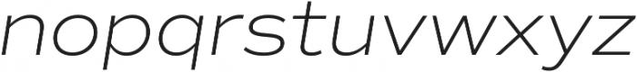 Commuters Sans ExtraLight Italic otf (200) Font LOWERCASE