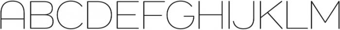 Como ExtraLight otf (200) Font UPPERCASE