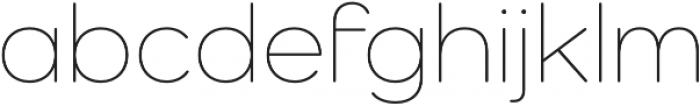 Como ExtraLight otf (200) Font LOWERCASE