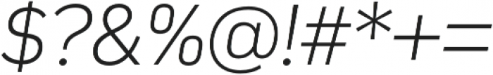 Compasse ExtraLight Italic otf (200) Font OTHER CHARS