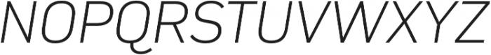Compasse ExtraLight Italic otf (200) Font UPPERCASE