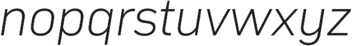 Compasse ExtraLight Italic otf (200) Font LOWERCASE