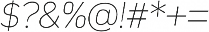Compasse Thin Italic otf (100) Font OTHER CHARS
