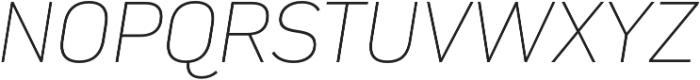 Compasse Thin Italic otf (100) Font UPPERCASE