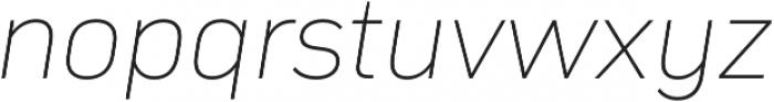 Compasse Thin Italic otf (100) Font LOWERCASE