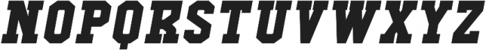 Comply Slab Black Italic otf (900) Font UPPERCASE