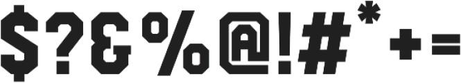 Comply Slab Black otf (900) Font OTHER CHARS