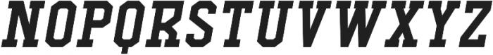 Comply Slab Bold Italic otf (700) Font UPPERCASE