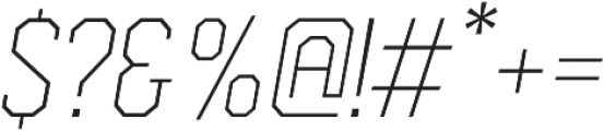 Comply Slab Extra Light Italic otf (200) Font OTHER CHARS