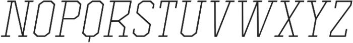 Comply Slab Extra Light Italic otf (200) Font UPPERCASE