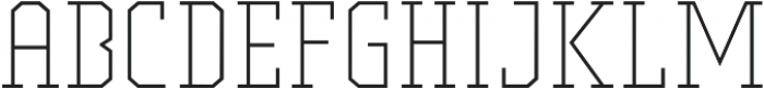Comply Slab Extra Light otf (200) Font UPPERCASE