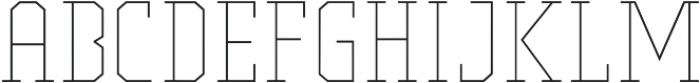Comply Slab Thin otf (100) Font LOWERCASE