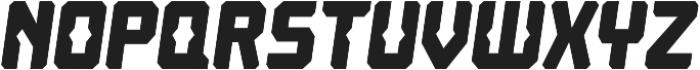 Computechnodigitronic Italic otf (400) Font UPPERCASE