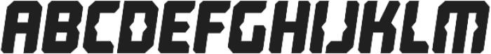 Computechnodigitronic Italic otf (400) Font LOWERCASE
