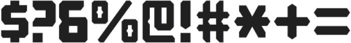 Computechnodigitronic Regular otf (400) Font OTHER CHARS