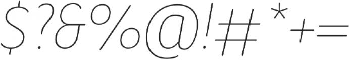 Condell Bio UltraLight-Italic otf (300) Font OTHER CHARS