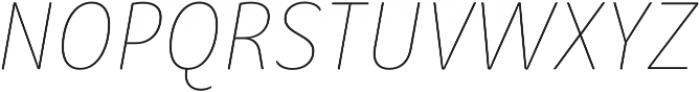 Condell Bio UltraLight-Italic otf (300) Font UPPERCASE