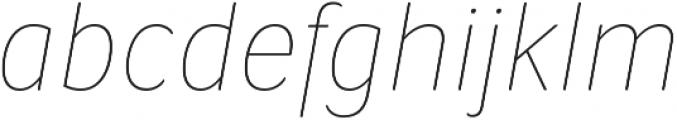 Condell Bio UltraLight-Italic otf (300) Font LOWERCASE