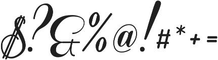 Coneria Script Fat ttf (800) Font OTHER CHARS