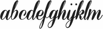 Coneria Script Fat ttf (800) Font LOWERCASE