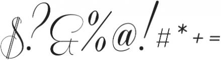 Coneria Script Light ttf (300) Font OTHER CHARS