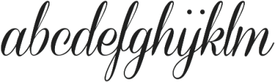 Coneria Script Medium ttf (500) Font LOWERCASE