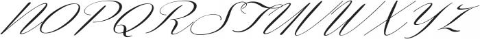 Coneria Script Slanted Light ttf (300) Font UPPERCASE