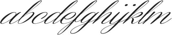Coneria Script Slanted Light ttf (300) Font LOWERCASE