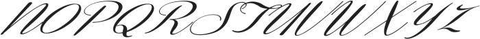 Coneria Script Slanted Medium ttf (500) Font UPPERCASE