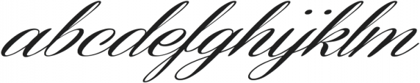 Coneria Script Slanted Medium ttf (500) Font LOWERCASE