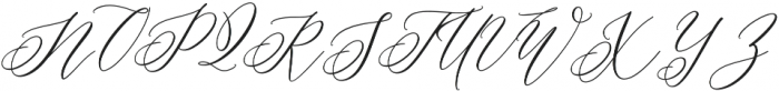 Coneshia Regular otf (400) Font UPPERCASE