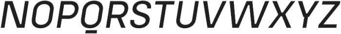 Config Alt Text Italic otf (400) Font UPPERCASE
