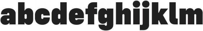 Config Black otf (900) Font LOWERCASE