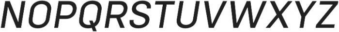 Config Text Italic otf (400) Font UPPERCASE