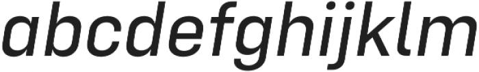 Config Text Italic otf (400) Font LOWERCASE