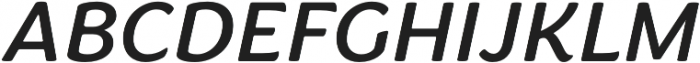 Congenial Italic otf (400) Font UPPERCASE