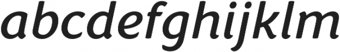 Congenial Italic otf (400) Font LOWERCASE