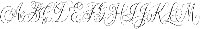 Constancia Script Alt1 Regular otf (400) Font UPPERCASE