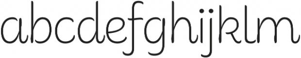 Consuelo Regular otf (400) Font LOWERCASE