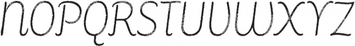 Consuelo Rough Italic otf (400) Font UPPERCASE