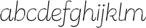 Consuelo Rough Italic otf (400) Font LOWERCASE