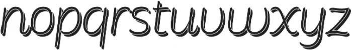 Consuelo Shadow Italic otf (400) Font LOWERCASE