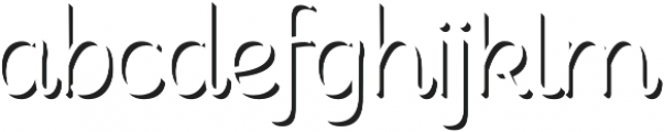Consuelo Shadow Two otf (400) Font LOWERCASE