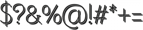 Consuelo Shadow otf (400) Font OTHER CHARS