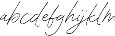 Contempora Script Rough One otf (400) Font LOWERCASE